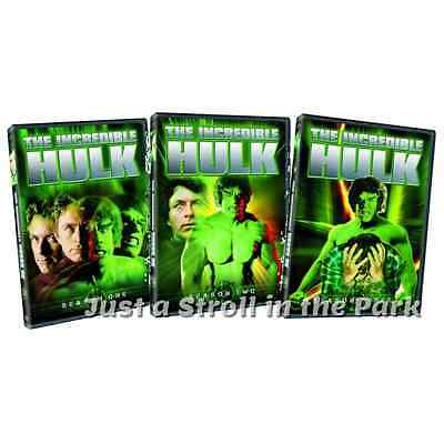 The Incredible Hulk: 1980s TV Series Complete Seasons 1 2 3 Box/DVD Set(s) NEW!