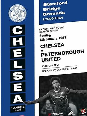 Chelsea v Peterborough United 2016/17 FA Cup brand new football programme