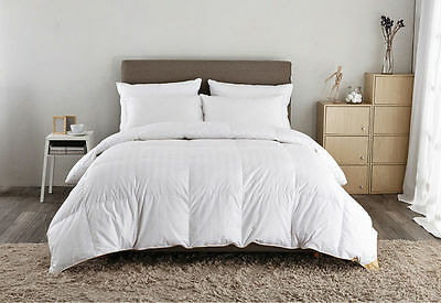 Luxurious 100%  Pure Down Hungarian White Goose Down Duvet Quilt+ Carry Case
