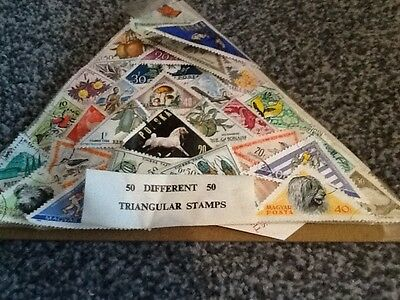 Selection Of Triangular Stamps Very Old