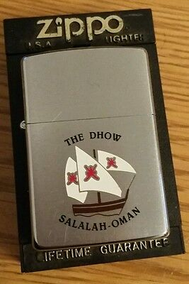 Zippo - Genuine 1992 Zippo - The Dhow Salalah - Oman - Brushed Chrome Near Mint
