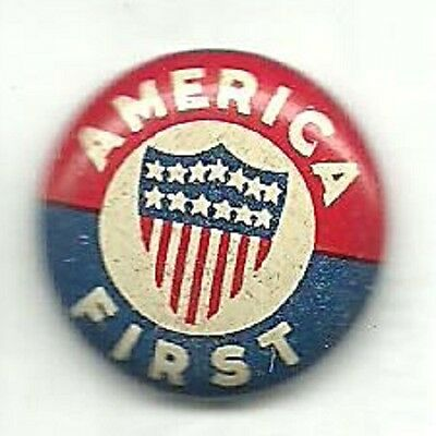 America First Pre World War Ii Isolationist Anti War Political Litho Pin