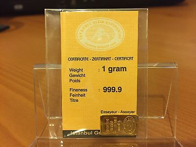 1g Instanbul Gold Refinery - 999.9 gold bar - sealed