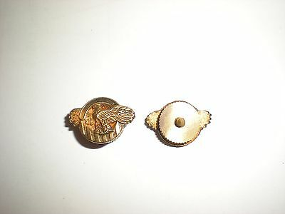 Original Wwii Us Ruptured Duck Lapel Pin - Screw Back