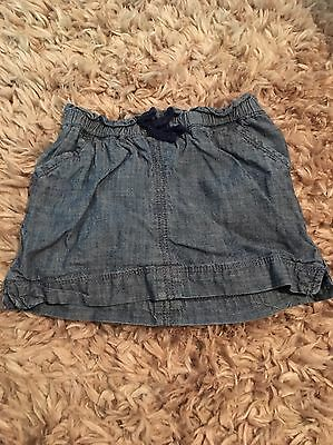 Old Navy 18-24 Months Baby Girl Chambray Skirt