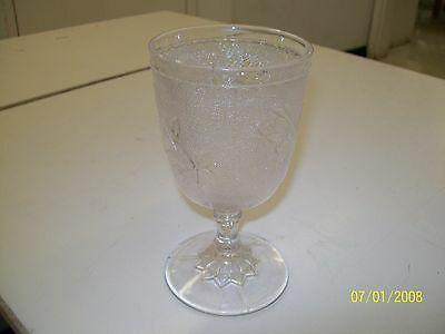 Vintage Pattern Glass Goblet With 3 Molds