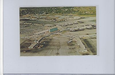 many prop and jet airliners at Atlanta airport  aerial postcard