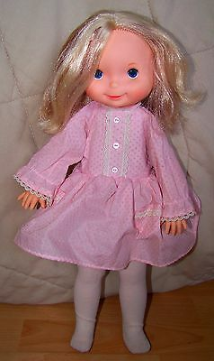 "Fisher Price My Friend Mandy 15"" Doll with original Pink Party dress #210 1970's"