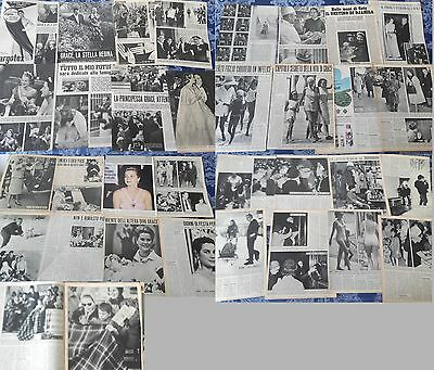 GRACE KELLY 1956-1968_Grace di Monaco_italian clippings_lotto articoli d'epoca