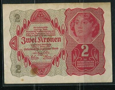 Paper Money Austria 1922 2 kronen