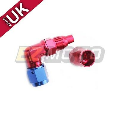 UK STOCK !! -6 AN6 Forged Swivel Fuel Hose End 90 Degree Fitting Adapter #6