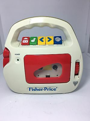 Fisher-Price Vintage Cassette Player & Recorder with Mic Model 3800 1992 Tested