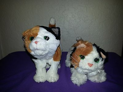 2 Hasbro FurReal Friends~Black/tan/white Kitty Cat's Electronic Calico