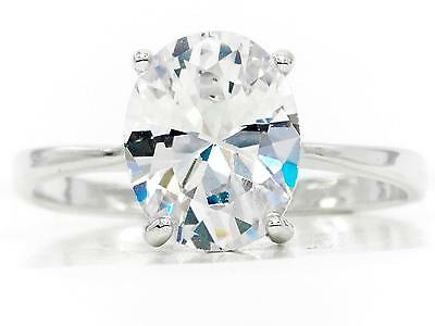 White Gold Ring With White Sapphire Gemstone 18CT (SIZE P) RD4C