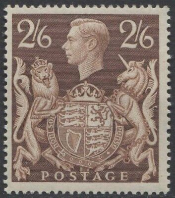 GREAT BRITAIN KGVI 1939 Issue 2s6d Scott 249  SG476  Never Hinged cv £95