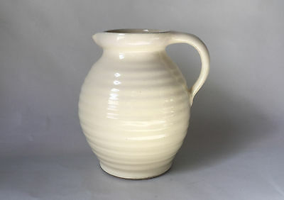 "Denby Bourne Jug Shape Vase, Cream 7.5"". Made in England 1940s"