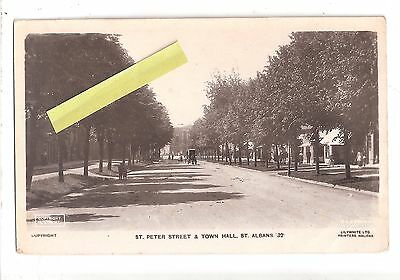 RP St. Albans St.Peters Street & Town Hall Hertfordshire Lillywhite unused