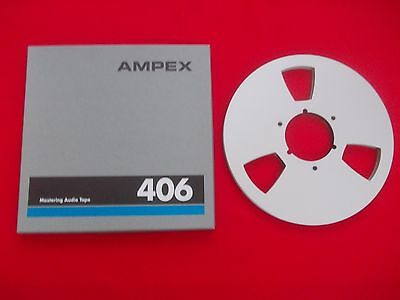 """Ampex 406 NAB 10 1/2"""" x 1/4"""" Metal Reel ( outstanding condition )"""