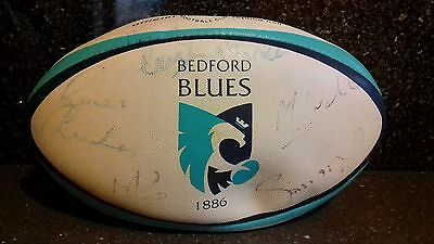 Gilbert Official Replica Bedford Blues 1886 Rugby Ball Size 5 signed by team