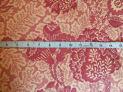 "Vintage Liberty of London cotton interior floral fabric 54"" wide x 38"" long"