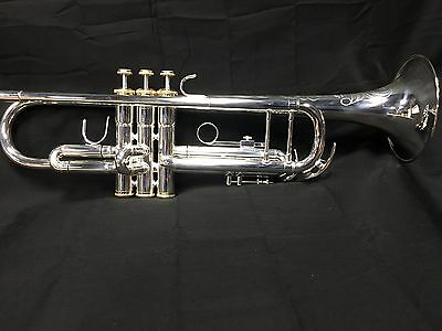 Professional Silver Plated Schmidt Trumpet With Gold Trim