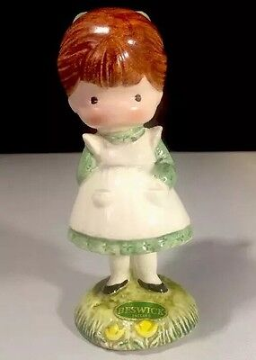 Vintage Joan Walsh Angling Little Girl 1958, 1970 Ceramic Figurine With Box