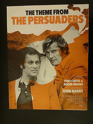 Original Sheet Music For Persuaders 1971 Roger Moore James Bond Tony Curtis