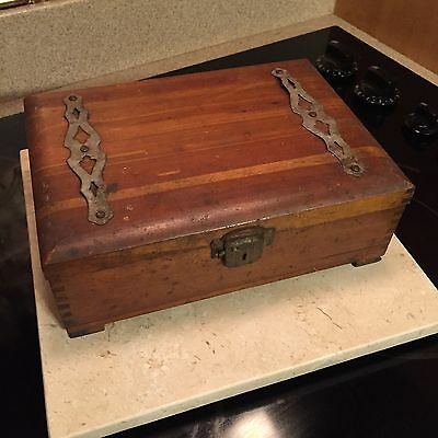 Vintage Antique Wooden Writing Box