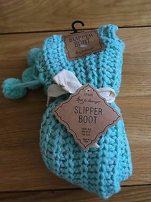 Love To Lounge Mint Slipper Socks/boot Size 4-8 Bnwt Ideal Gift