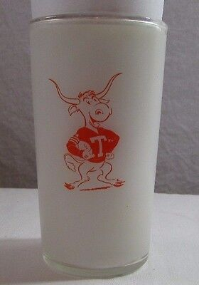 Texas  Longhorns  Frosted  Drinking  Glass