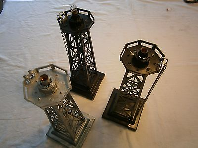 3 MARX Plastic Beacon used  0 scale Modeltrain