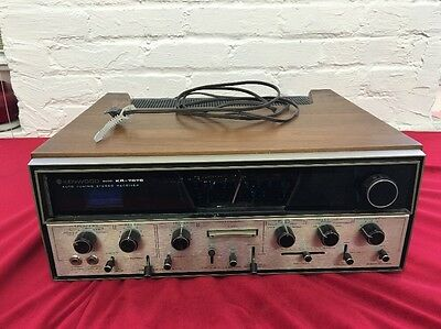 Vintage Kenwood Receiver Kr 7070 Auto Tuning Stereo Fm & Am --Wood Case