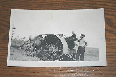 International Harvester Titan Tractor Real Photo Postcard