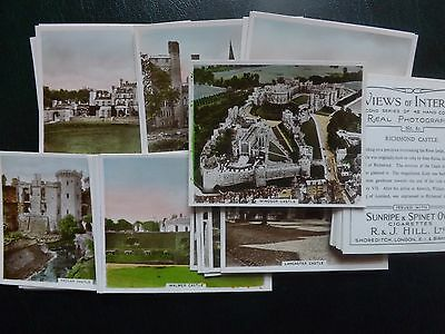 VIEWS OF INTEREST (2nd series)  CASTLES - R.J.HILL Ltd -  Set of 48 - EX/ Mint