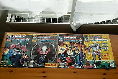 Transformers comic Marvel UK joblot4 #321 322 324 327 Excellent condition