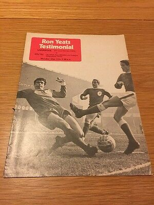 Ron Yeats Testimonial Programme Liverpool V Celtic
