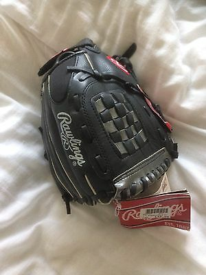 """Rawlings PL129fb Leather Baseball Glove 11"""" Right  Hand Boys Youth Black"""