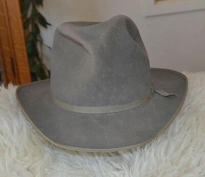 Resistol  Western Fedora Cowboy Beaver Hat 7 1/8 Town And Country