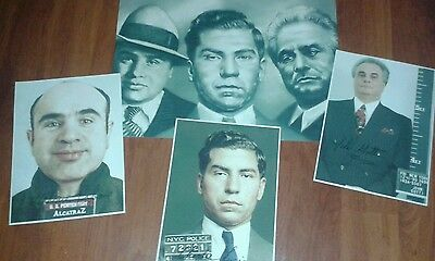 Al Capone. Lucky Lucino. John Ghotti. Signed Pictures & Poster. Mob. Mafia.