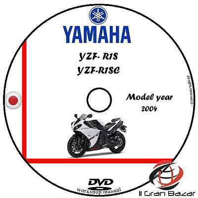 Manuale Officina Yamaha Yzf R1S R1Sc My 2004 Workshop Manual Cd Dvd