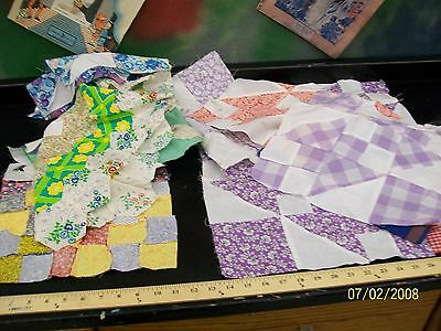 Lot Of 16 Quilt Squares