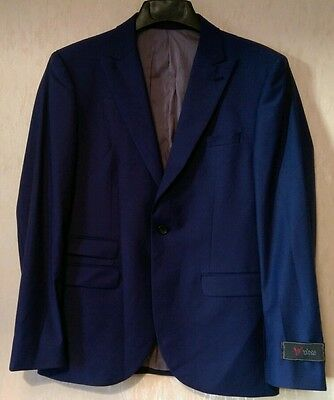 Mens Next Tailoring formal wedding occasion blue suit jacket size 40 S (Medium)