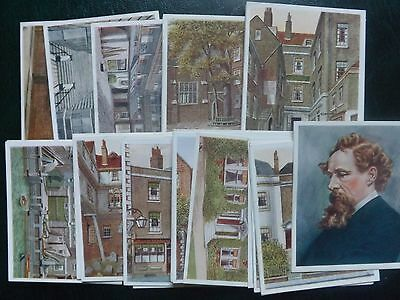 HISTORIC PLACES FROM DICKENS CLASSICS - R.J.HILL Ltd - Set of 50 - 1926 - EX