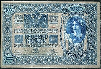 Paper Money Austria Hungary 1902 1000 kronen XF,#09895