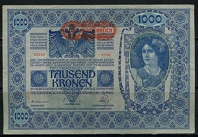 Paper Money Austria Hungary 1902 1000 kronen XF,02578