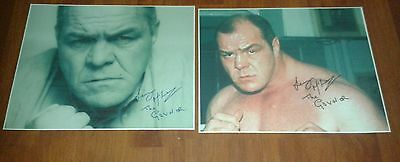 Lenny Mclean The Guv'nor Signed Pictures. Large. Krays. Unlicensed Boxing. Crime