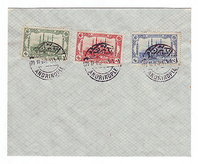 TURKEY 1913 Recapture of Adrianople, canceled on cover in Adrianople, Mi.226-8