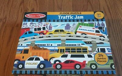 Melissa & Doug Traffic Jam Kids/Toddler 2'×3' 24 Piece Jumbo Floor Jigsaw Puzzle
