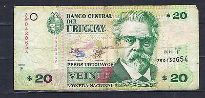 Uruguay  20 pesos Banknote F series (replacement note)