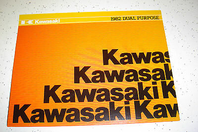1 Kawasaki 1982 NOS.Dual Purpose KL250,KE175,125,100cc, Sales Brochure.4 Pages.